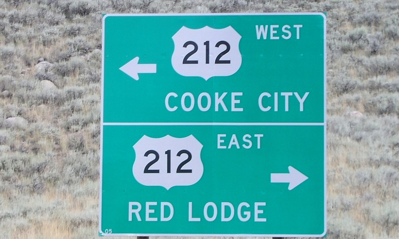 Cooke City Montana Red Lodge Sign